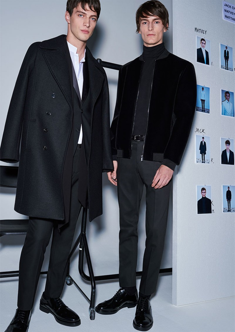 Strong overcoat and sharp jackets finish off sartorial winter looks.
