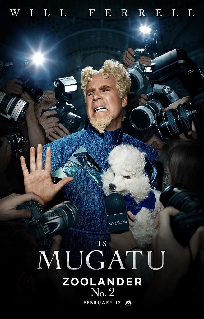 Will Ferrell as Mugatu for Zoolander 2 poster artwork
