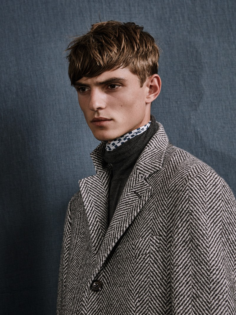 Guerrino wears coat Brunello Cucinelli.