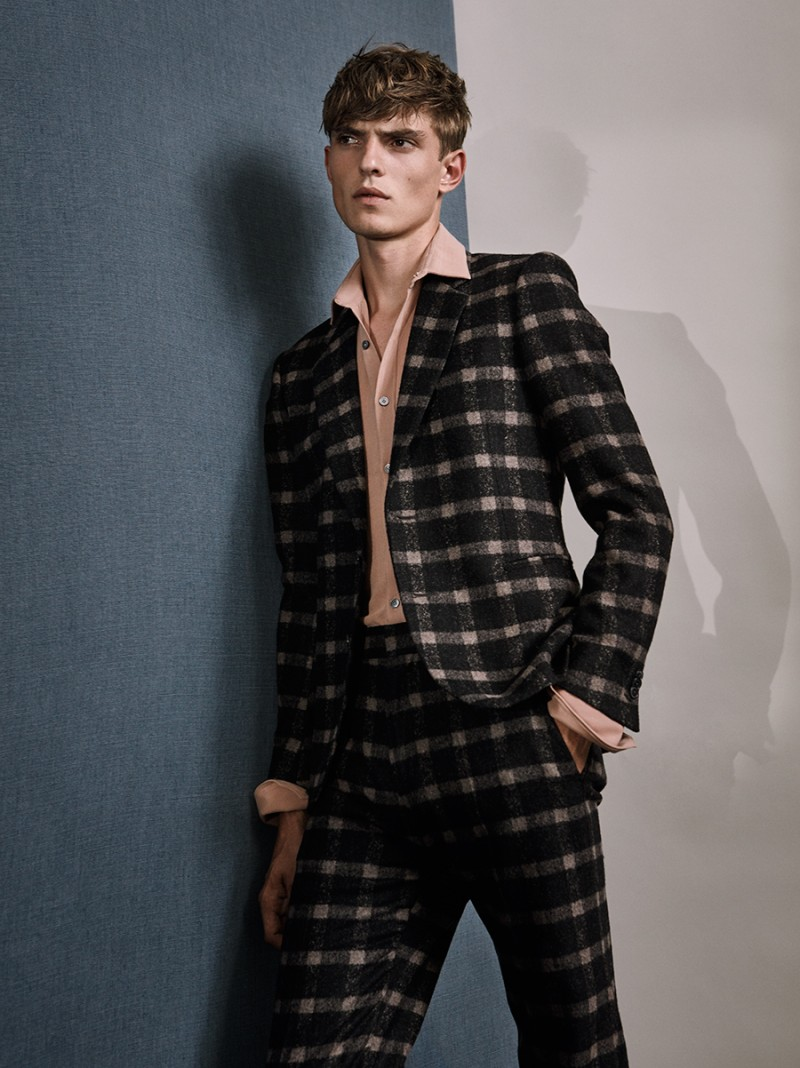 Guerrino wears plaid suit Paul Smith.