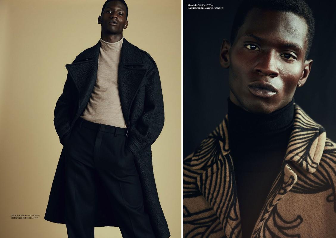 Dreams of Camel & Black: Adonis Bosso for L'Officiel Hommes Germany