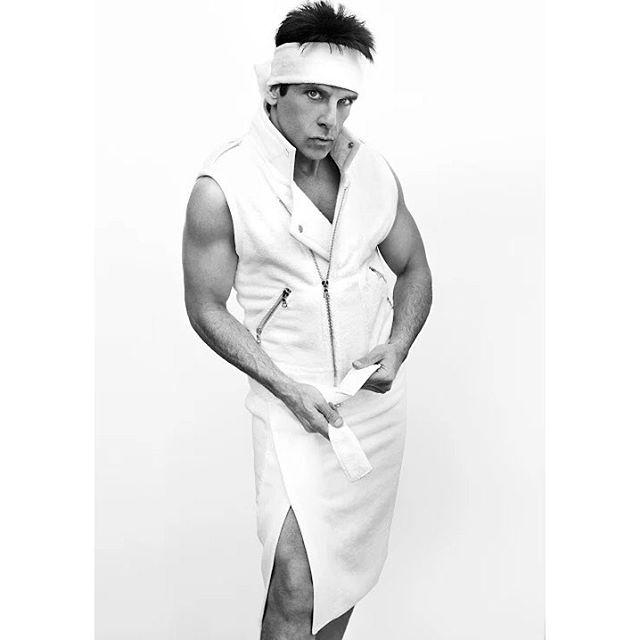 Derek Zoolander Poses for Mario Testino's Towel Series