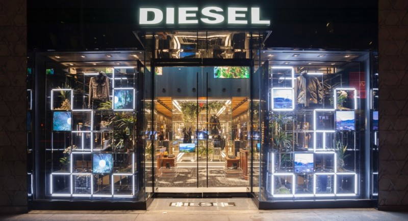 diesel opens new madison ave store in new york the fashionisto. Black Bedroom Furniture Sets. Home Design Ideas