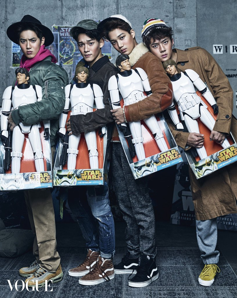 Exo are 'Star Wars' Super Fans for Vogue Korea Photo Shoot