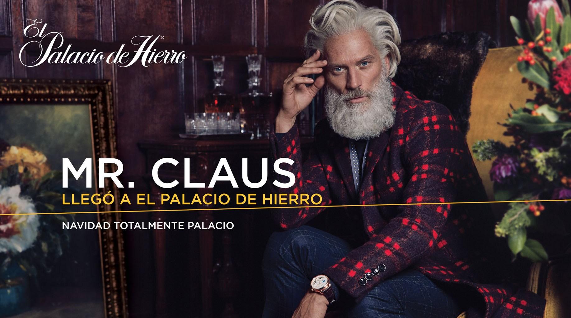 Paul Mason is Mr. Claus for El Palacio de Hierro
