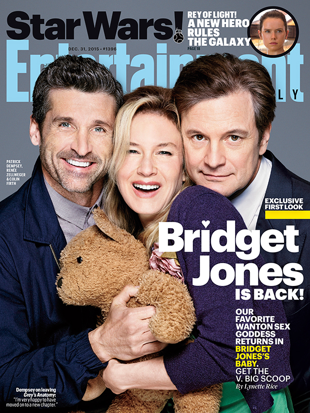 Patrick Dempsey, Renee Zellweger and Colin Firth cover the latest issue of Entertainment Weekly, promoting Bridget Jones' Baby.