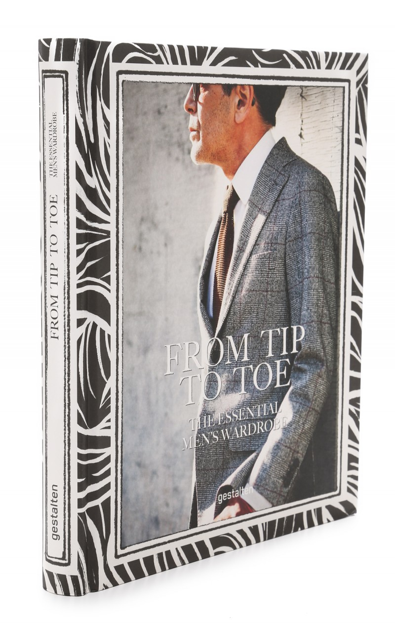 """From Tip to Toe: The Essential Mens Wardrobe $50   """"A guide for those who want to be impeccably stylish, this book presents iconic men's clothing and those who wear it, as well as leading brands and manufacturers. From Tip to Toe is a fundamental guide to the pieces that ought to accompany a man throughout his life. From the hat on his head to the sole of his shoe, From Tip to Toe presents the essential items of a man's wardrobe. These include laid-back sportswear, everyday basics, and elegant styles for special occasions--as well as fitting accessories."""""""