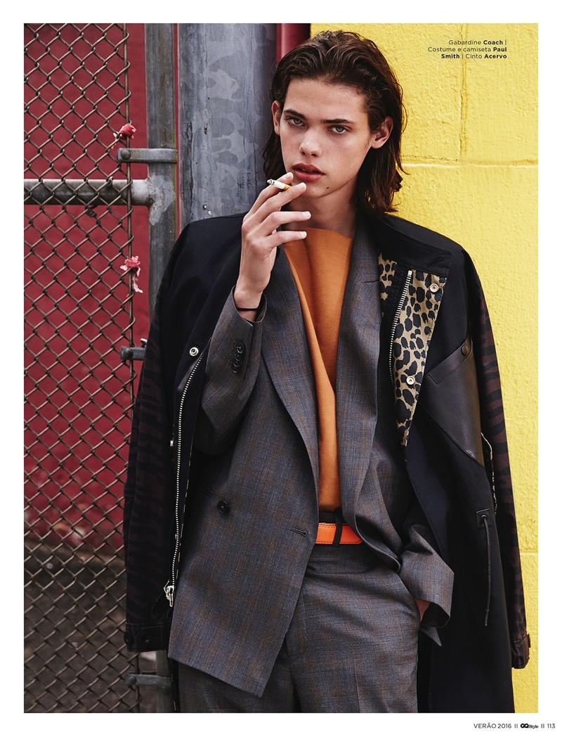Oversized: Erin Mommsen Embraces the Trend for GQ Style Brasil