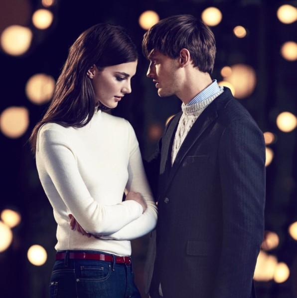 Katryn Kruger and Eddie Klint for Gant Holiday 2015 Campaign