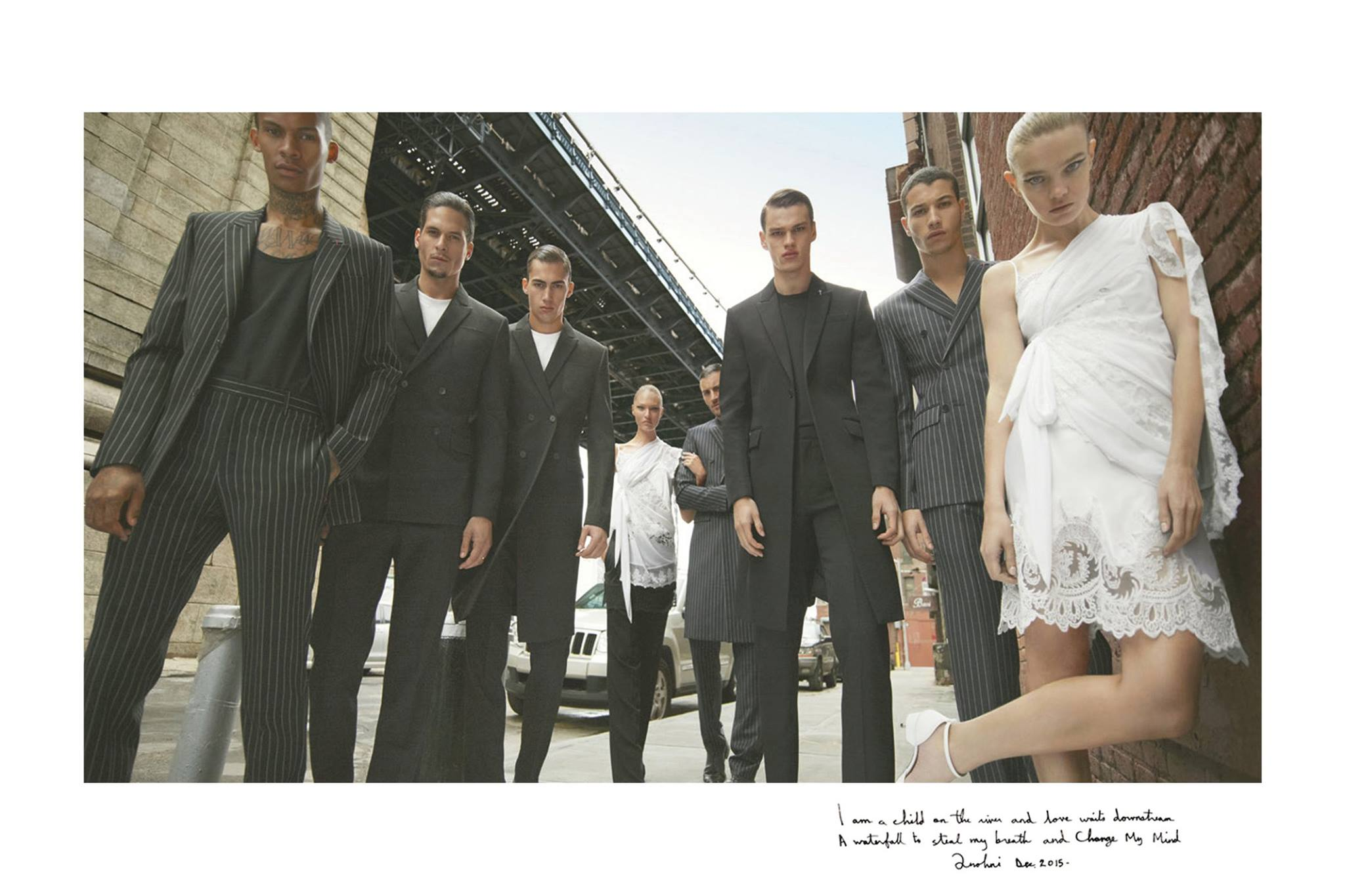 Givenchy Shows an Affinity for the Pinstripe Suit
