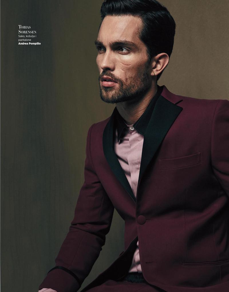 Tobias Sorensen photographed for Harper's Bazaar Serbia