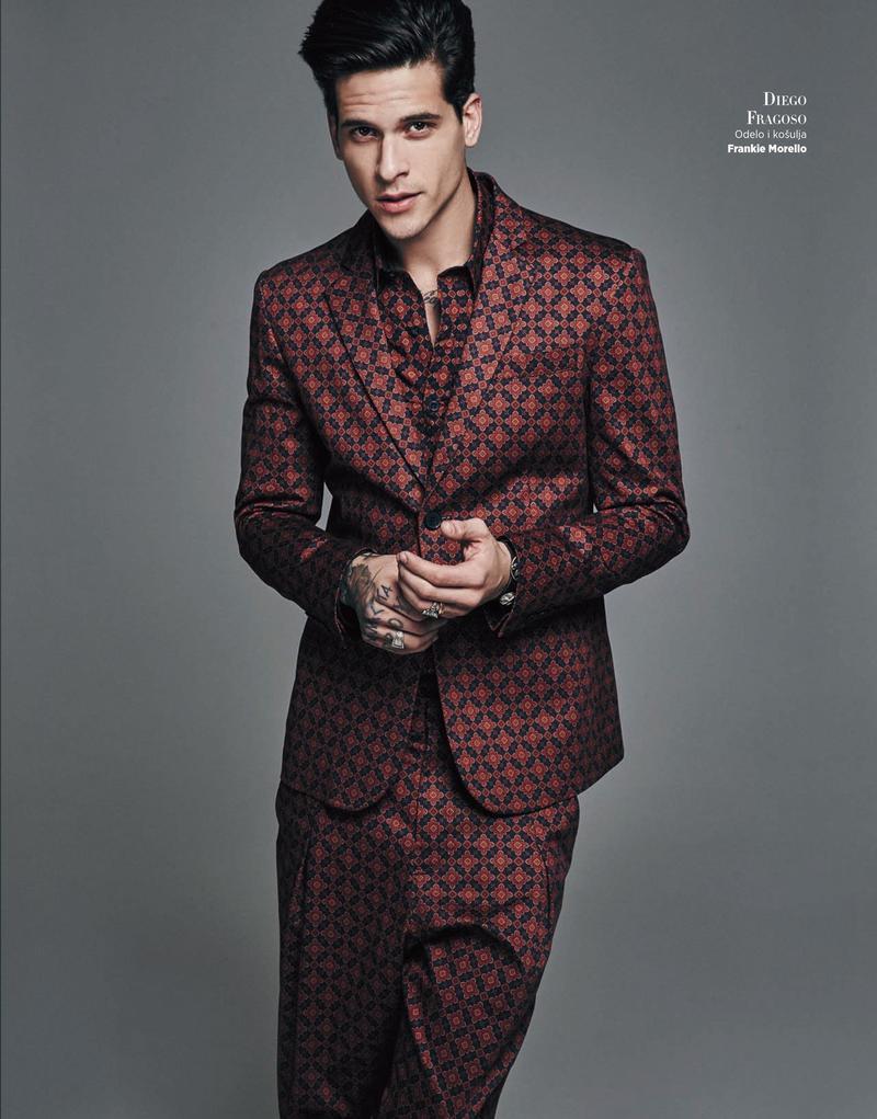 Diego Fragoso photographed for Harper's Bazaar Serbia