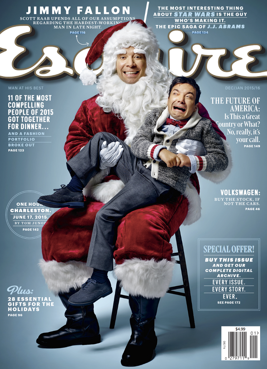 fd2a9e397e5204 Jimmy Fallon Plays Santa Claus for Esquire Cover Shoot