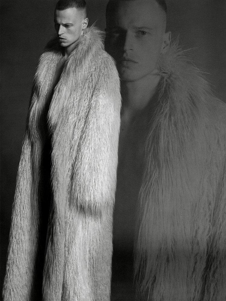 Fashion For Men: Lars Burmeister Rocks Fur for Milan Vukmirovic Shoot