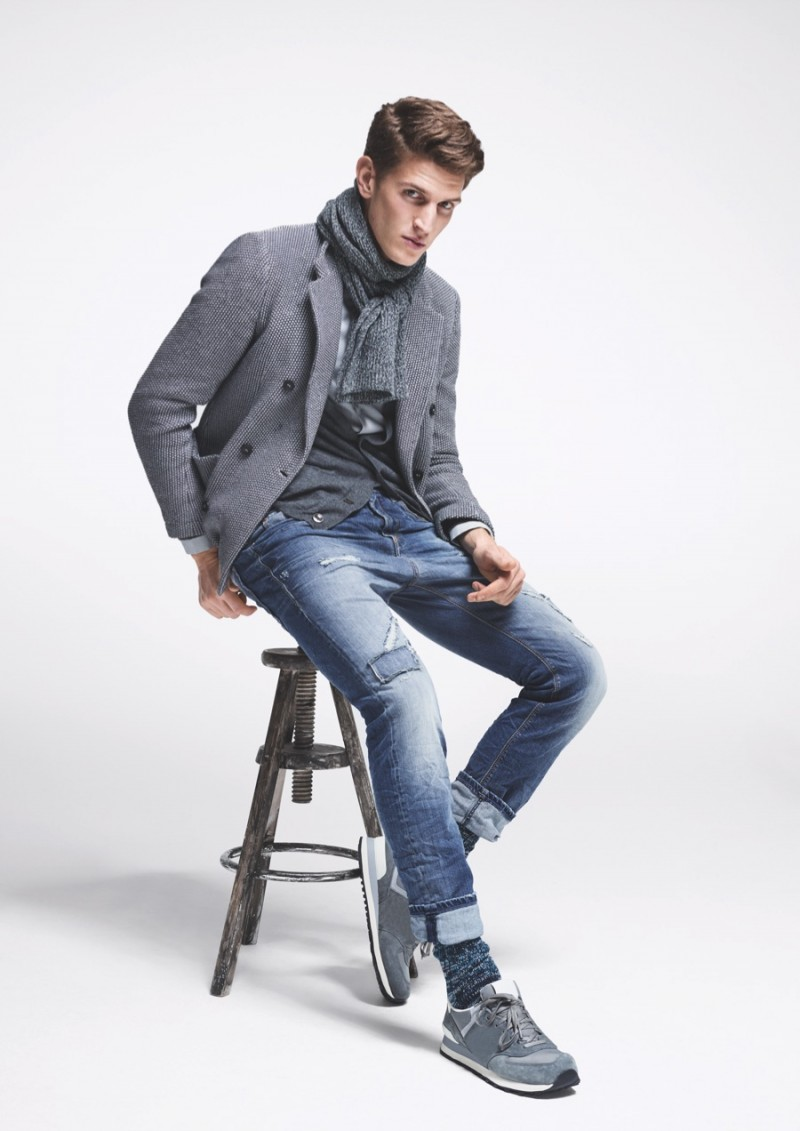 Model Andre Feulner for MAC Jeans Fall/Winter 2015