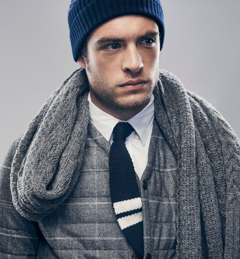 54b8a953ce Gaspard wears winter accessories from Massimo Dutti s 2015 Après Ski  collection.