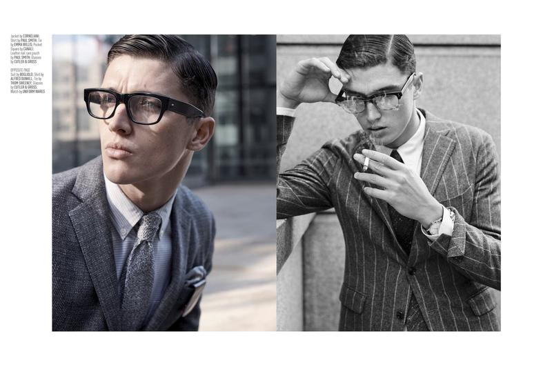 August Man: Matthew Holt Goes Geek Chic for Suiting Story