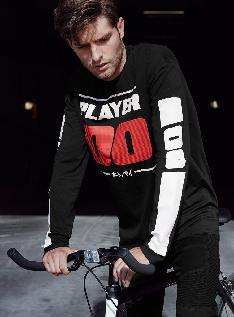 Moto Mania: Paolo Anchisi Models Sporty Styles for Simons