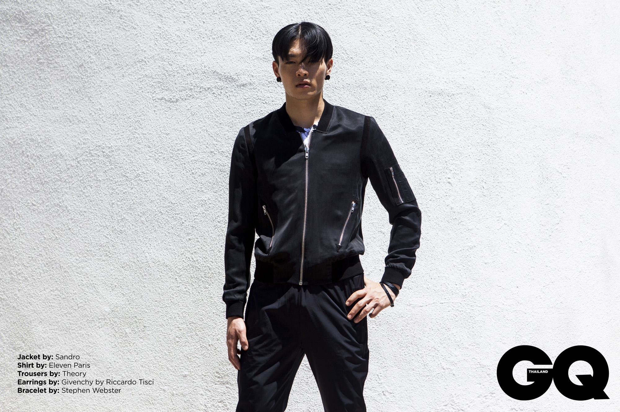 Rebel in Black: Satoshi Toda for GQ Thailand