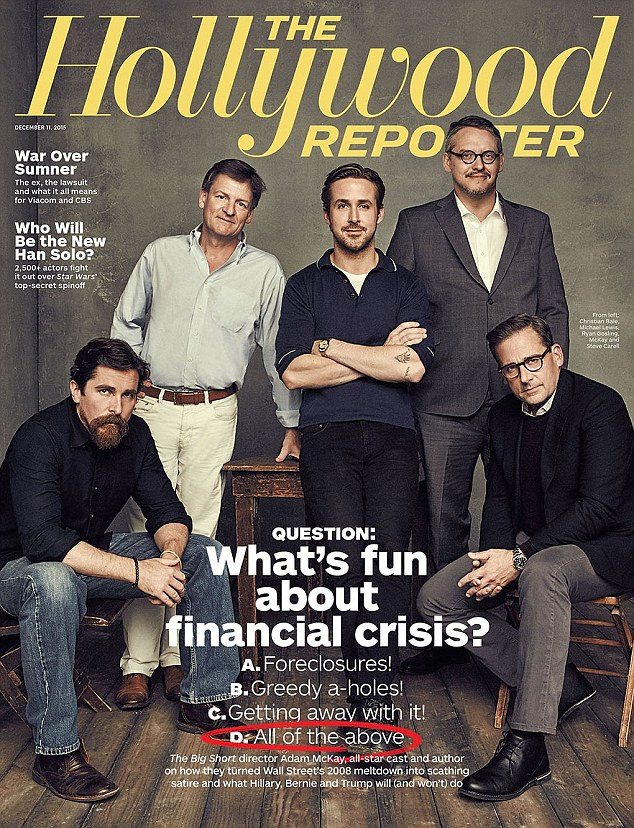 Author Michael Lewis joins The Big Short director Adam McKay and stars Christian Bale, Steve Carell and Ryan Gosling for the latest edition of The Hollywood Reporter.