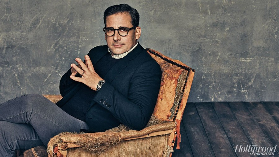 Steve Carell photographed for The Hollywood Reporter.