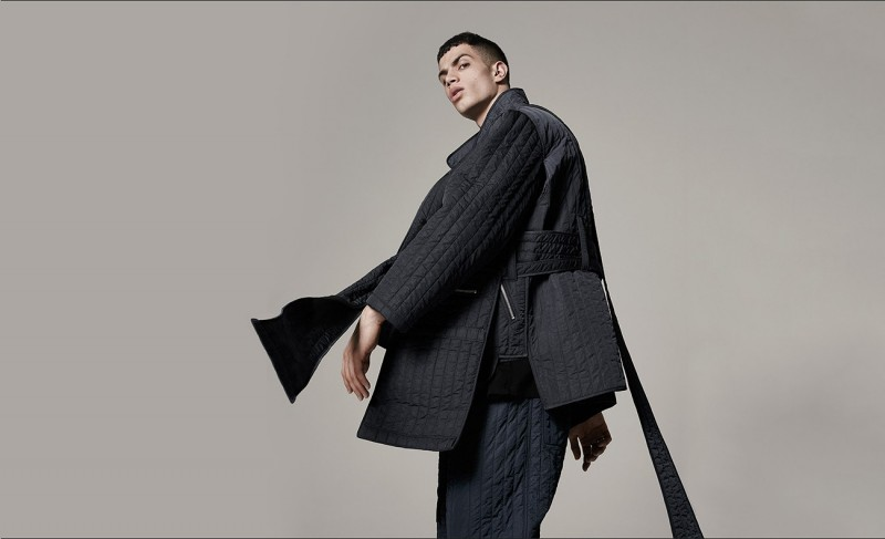 Wide-strap quilted jacket and wide-leg quilted trousers, both by Craig Green.