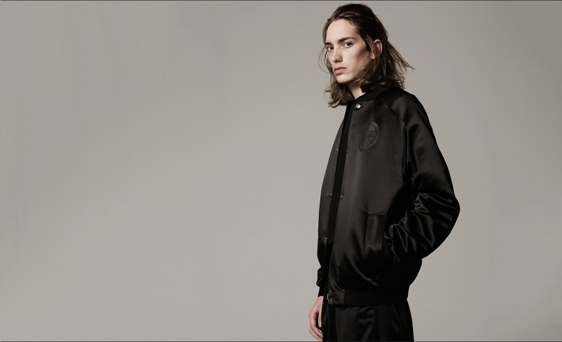 Logo-patch bomber jacket and knee-length shorts, both by Astrid Andersen.