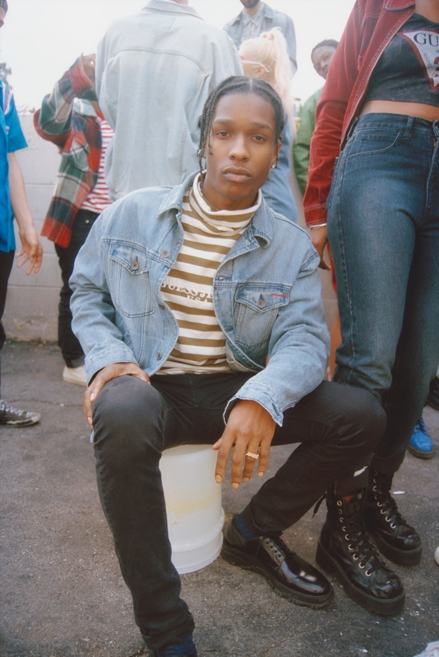 A$AP Rocky Revisits 90s Style with GUESS Collaboration