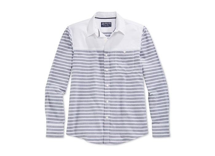 American Rag Stripe Long-Sleeve Shirt