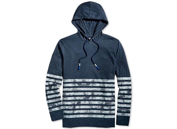 American Rag Wash Board Stripe Hoodie