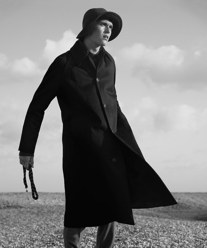Think Oversized: Anders Hayward Inspires in Dashing Wardrobe for Glass Magazine