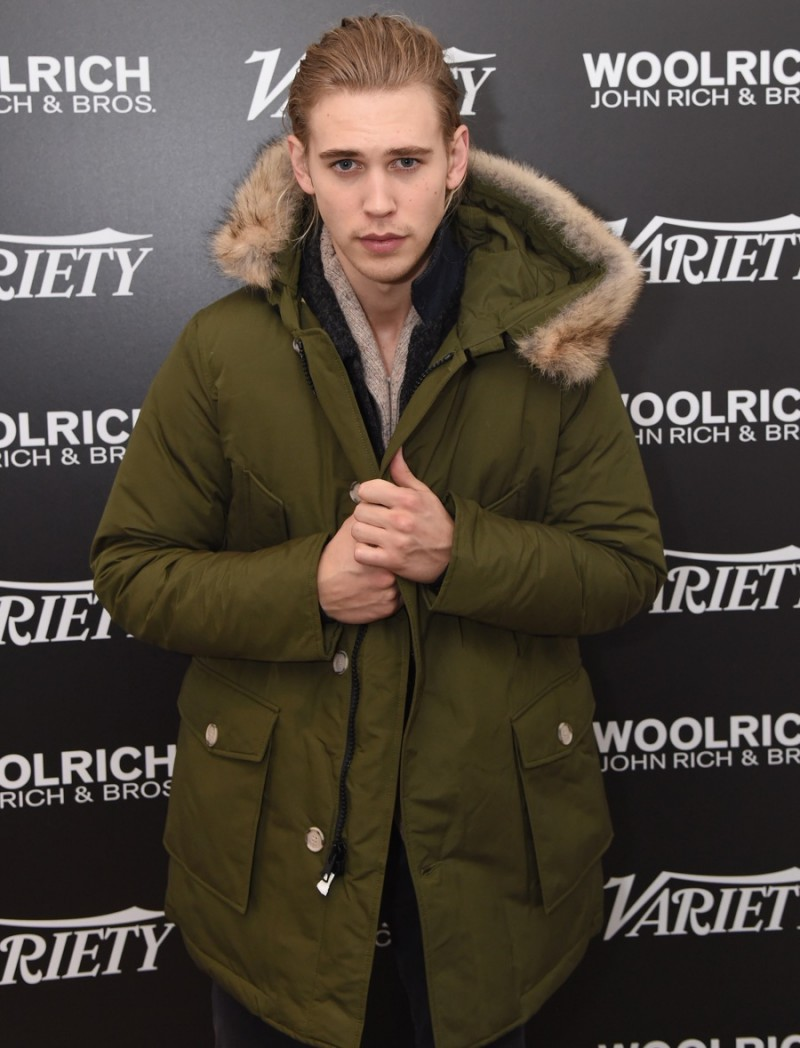 Austin Butler poses for a photo in Woolrich John Rich & Bros. at the 2016 Sundance Film Festival.