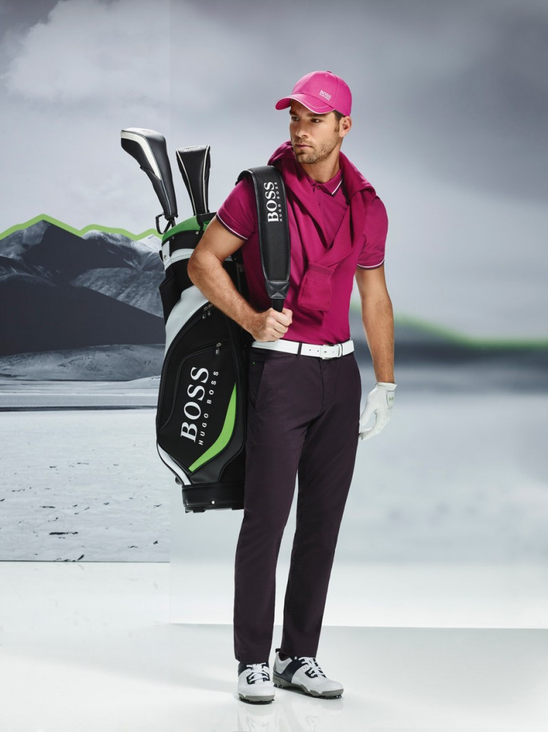 Brazilian model Andre Ziehe is ready for a season of golf with BOSS Green.