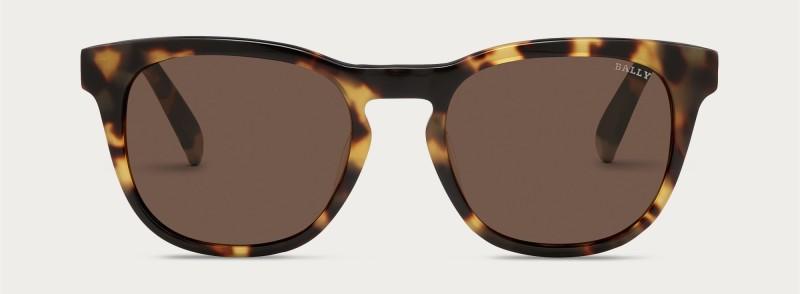 Bally Round Sunglasses in Dark Tortoiseshell.