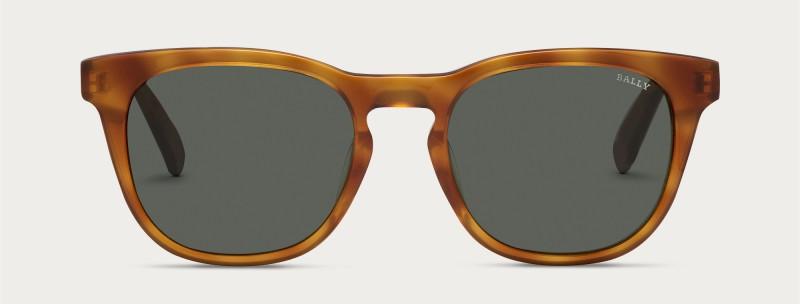 Bally Round Sunglasses in Tortoiseshell.