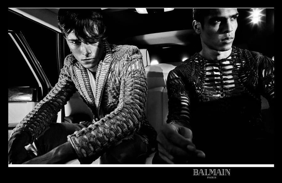Balmain Goes Dark for Film Noir Inspired Spring Ads