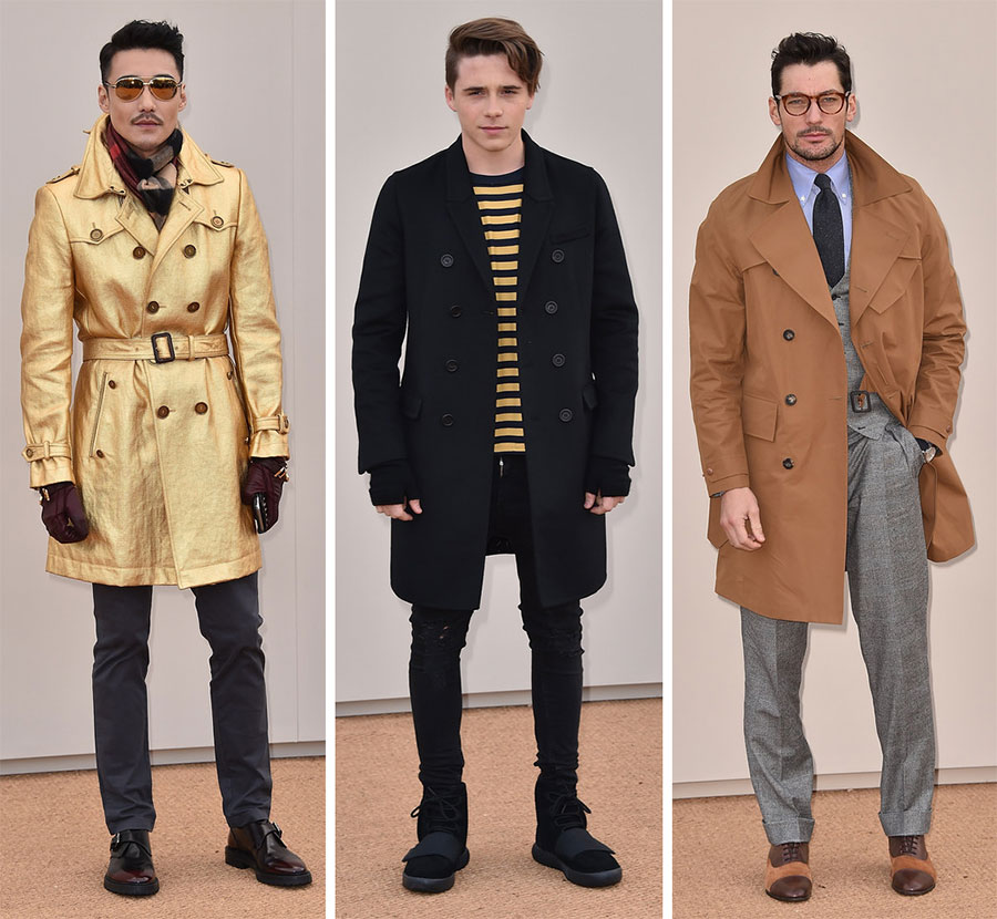 Burberry's Front Row Makes a Sharp Coat Statement