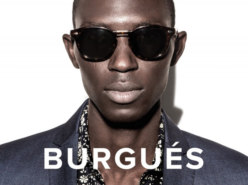 Armando Cabral plays it cool, wearing shades for Burgues spring-summer 2016 campaign.