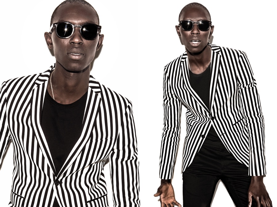 Armando Cabral is Trendy Vision in Stripes for Burgues' Spring Campaign