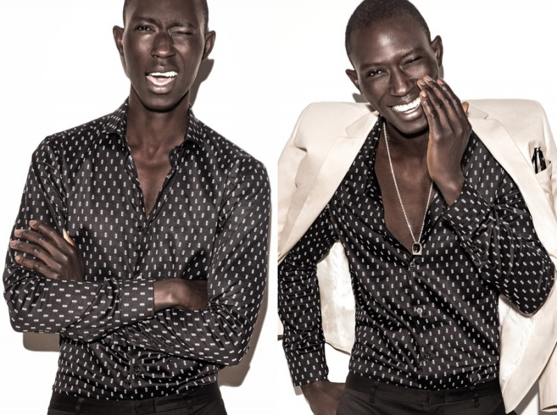 Armando Cabral is all smiles for Burgues spring-summer 2016 campaign.