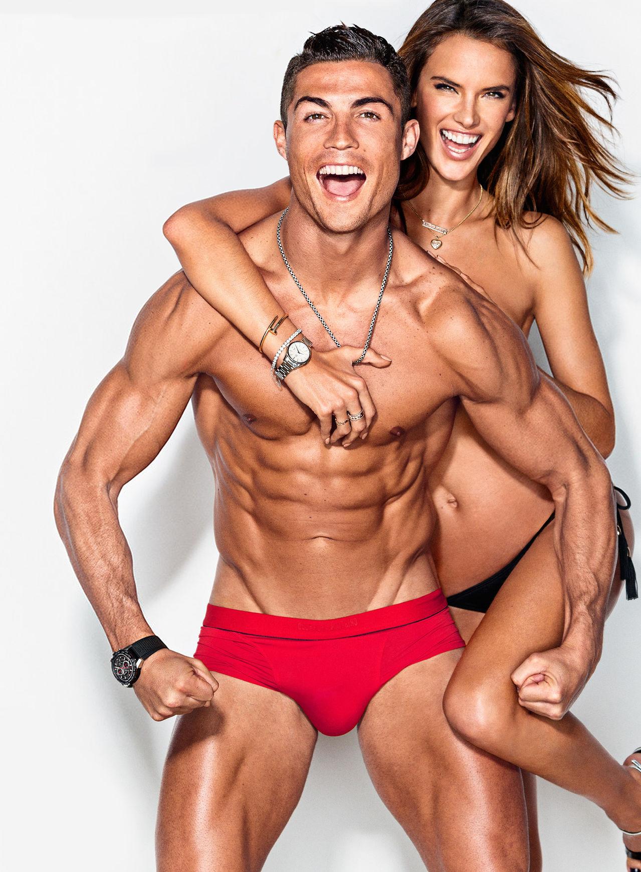 Cristiano Ronaldo Joins Alessandra Ambrosio for GQ's February 2016 Cover