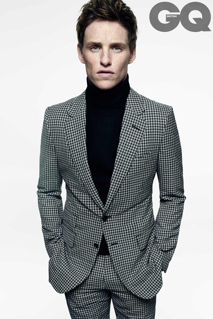 Eddie Redmayne photographed by Tom Munro for British GQ.