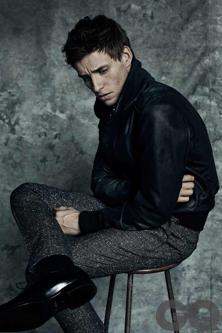 Eddie Redmayne poses for the pages of British GQ.