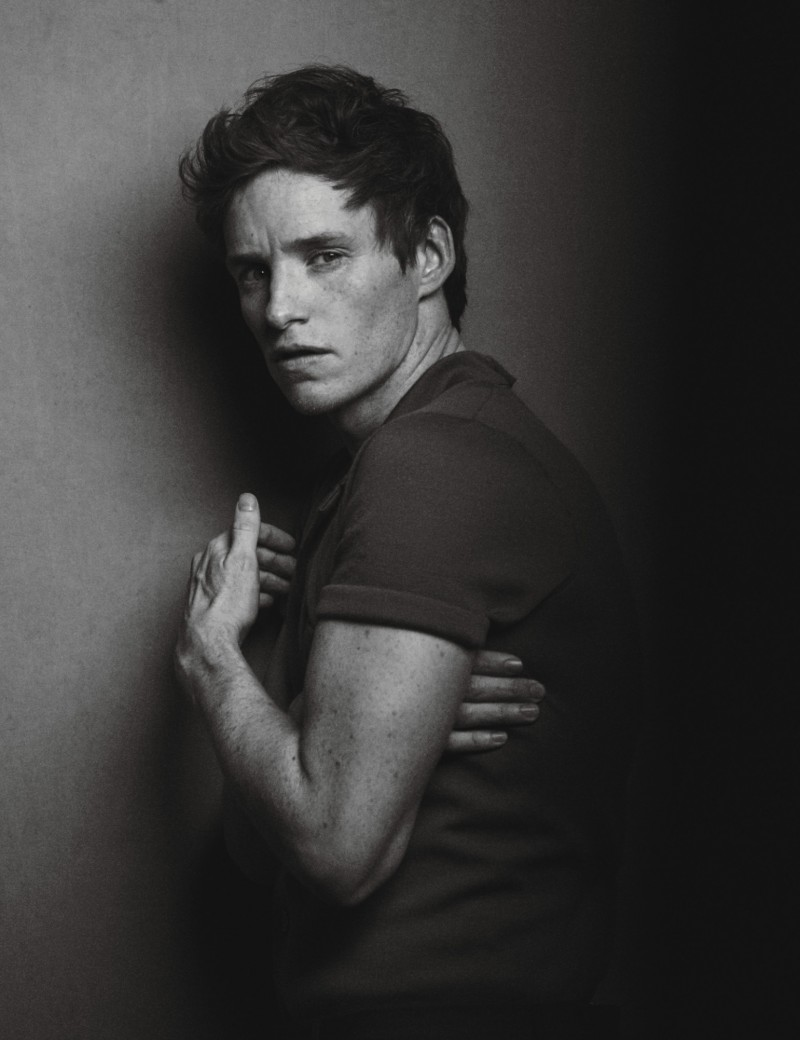 Eddie Redmayne photographed by Peter Lindbergh for W magazine.
