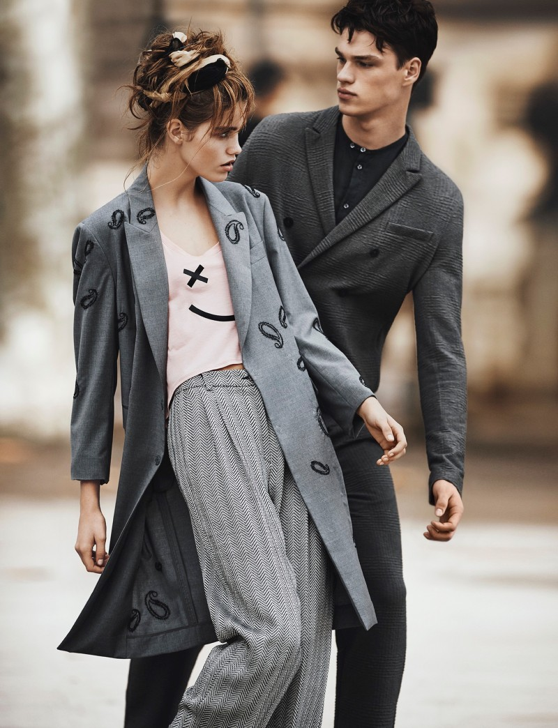 Armani Emporio ads pictures advise dress in spring in 2019