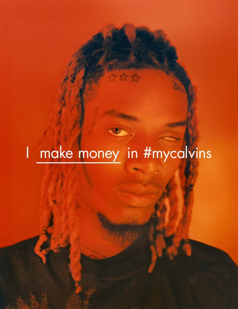 Fetty Wap appears in Calvin Kleins spring-summer 2016 campaign.