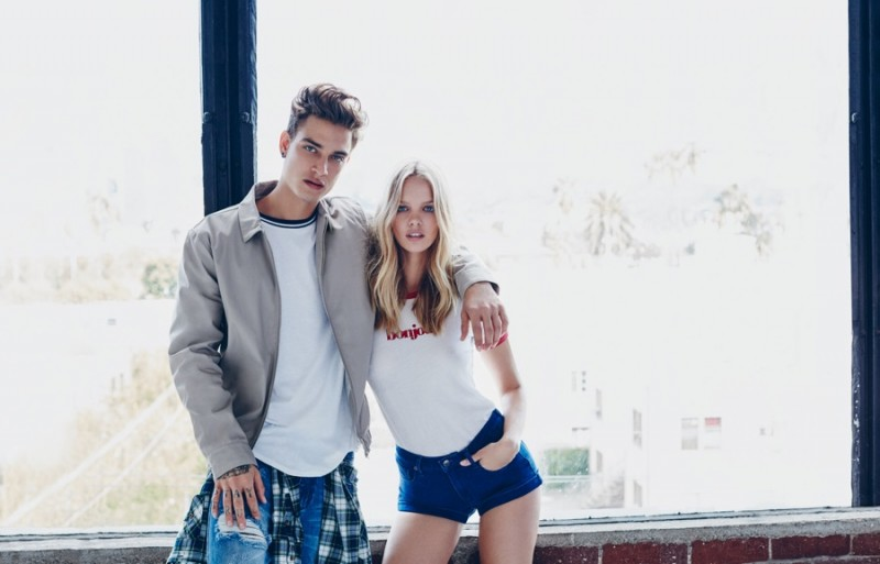 Jonathan Bellini and Marloes Horst for Forever 21 spring 2016 campaign.