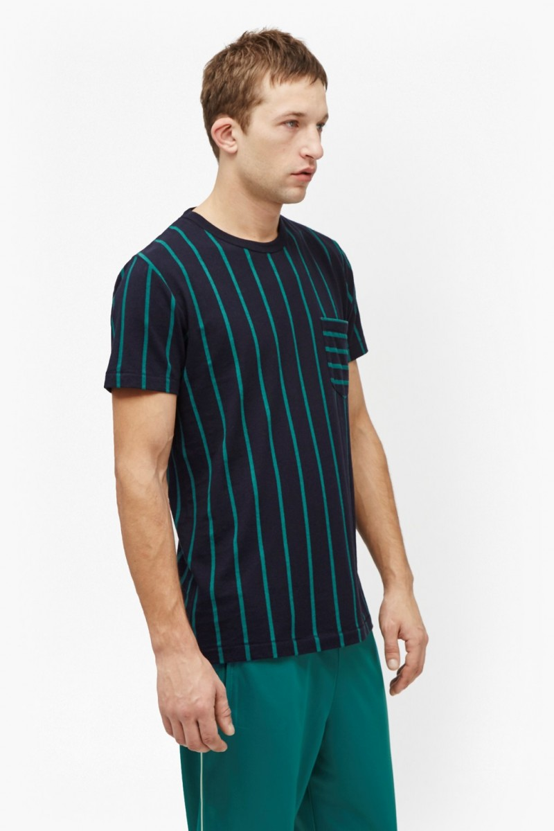 French Connection Contrast Stripe Pocket T-Shirt