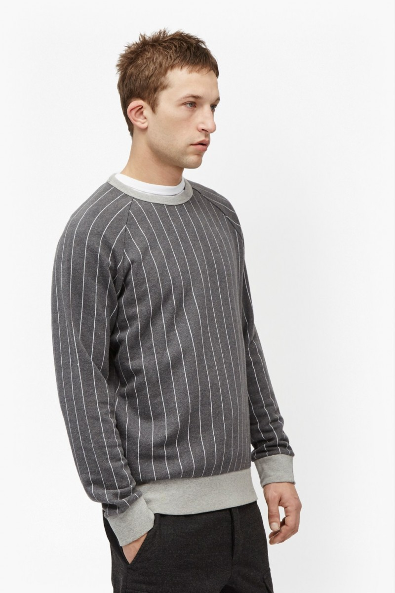 French Connection Pinstripe Raglan Sweatshirt
