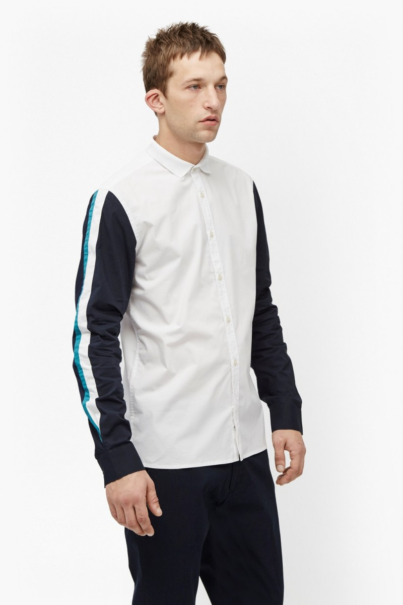 French Connection Racer Stripe Brosnan Shirt